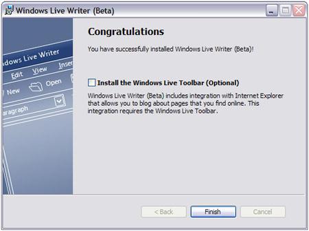 LiveWriter Setup 1