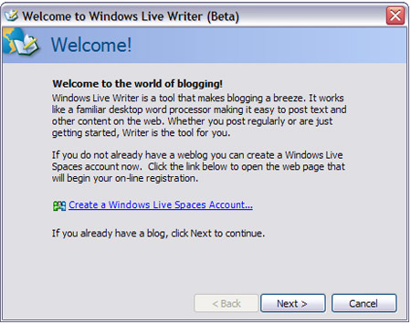 LiveWriter Setup 2