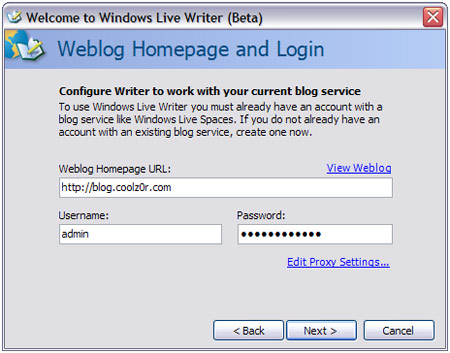 LiveWriter Setup 4