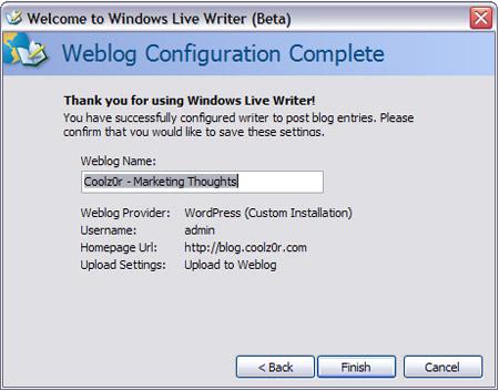LiveWriter Setup 5