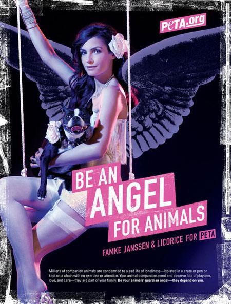 Famke Janssen for PETA