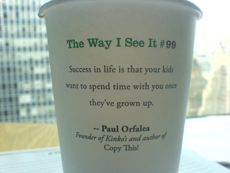 Wisdom On A Coffee Cup